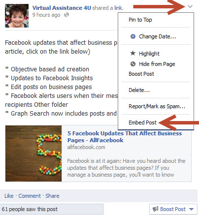 How to embed social media posts into your blog or website