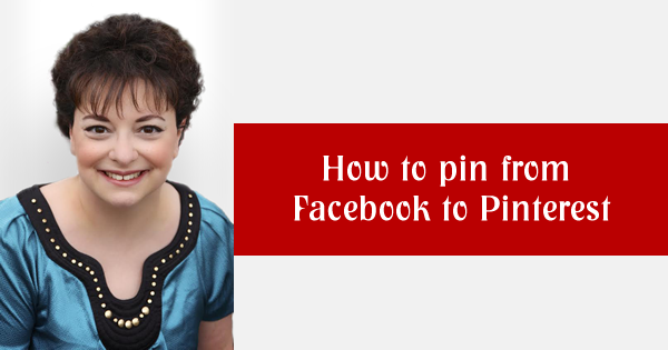 How to pin from Facebook to Pinterest