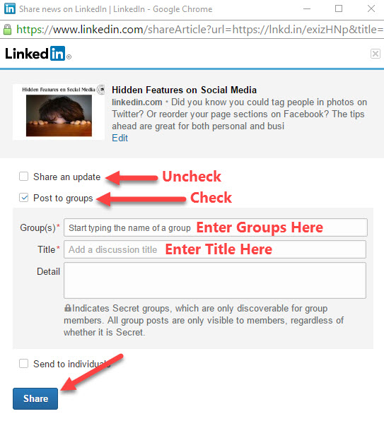 Publishing Posts on LinkedIn