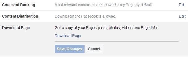 Facebook Backup