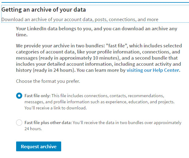 LinkedIn Backup