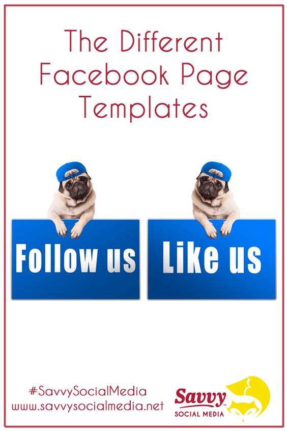 Setting up a #Facebook business page can be daunting so Facebook has created business page templates for different types of businesses, including non-profits.   #SavvySocialMedia