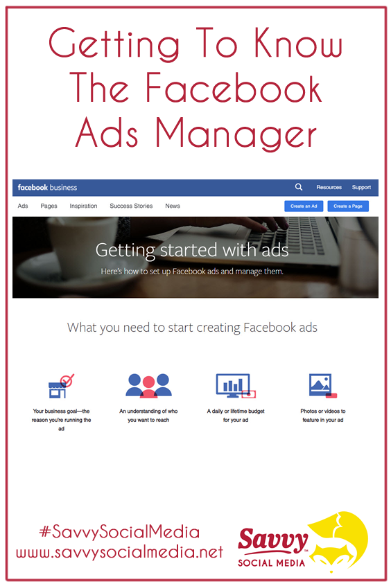 Getting To Know The #FacebookAdsManager | Using the Facebook Ads Manager gives you the ability to reach over 2.23 billion people around the world! Can you imagine growing your business just by using this tool? #SavvySocialMedia
