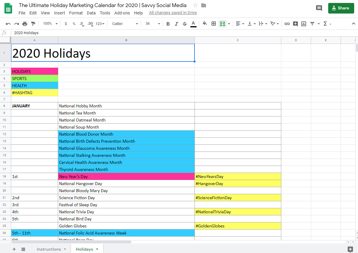 The Ultimate Holiday Marketing Calendar For 2020