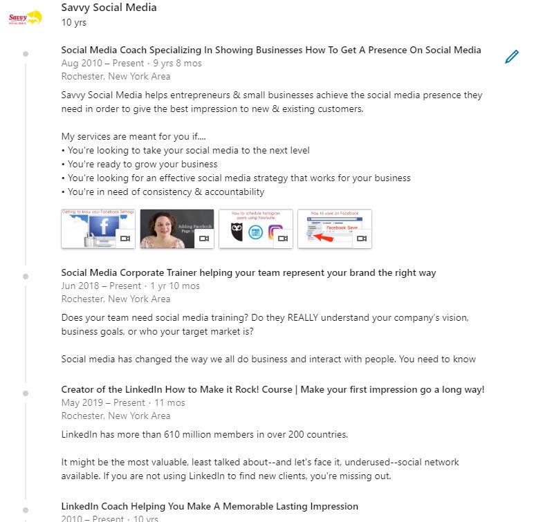 LinkedIn Experience
