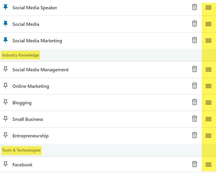 LinkedIn Skills