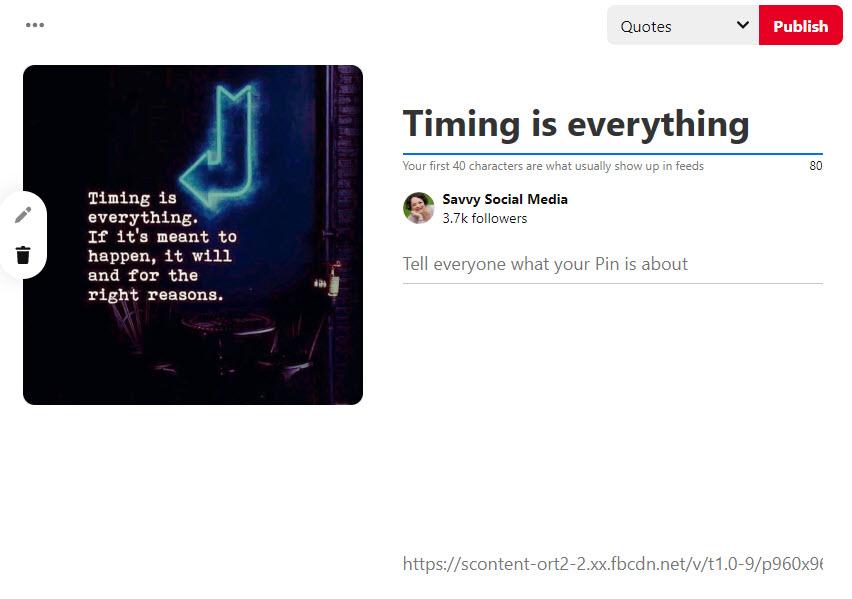 Pin Facebook to Pinterest